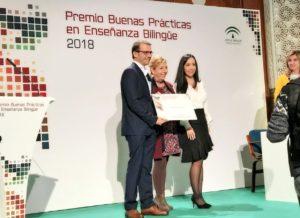 Tercer Premio de Buenas Prácticas en Enseñanza Bilingüe 2018, por la Consejería de Educación de Andalucía.