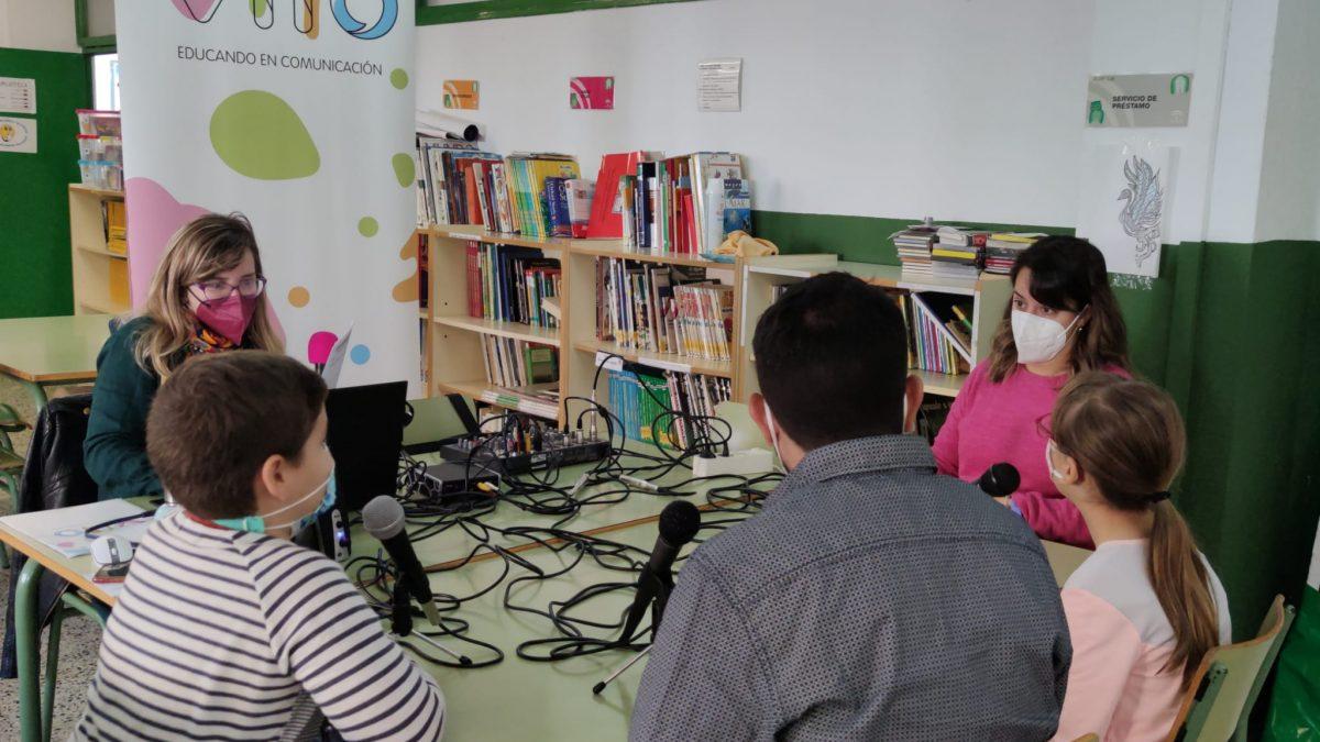 Radio escolar en el CEIP Ricardo León.
